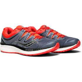 saucony Hurricane ISO 4 Shoes Women Grey/Black/Vizipro Red